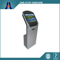 Elo touchscreen electronic information kiosk with beautiful design (HJL-2009)