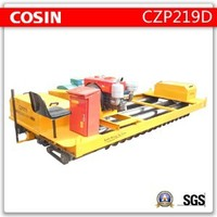 High Efficiency compacting and finishing paver road machine, diesel concrete roller screed