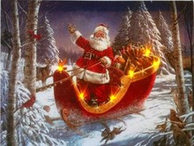 CE Certified 2015 lastest santa claus painting with led lights christmas for holiday gift cheap china factory wholesale