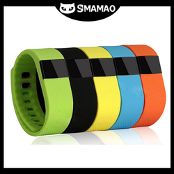 High end custom silicone tracking health black colour wrist watch TW64