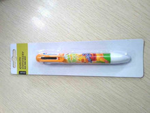 14cm 6 color plastic ball pen