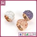 2014 de moda preciosos cristal anillos de acero