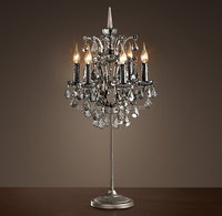 2015 New chandelier modern black crystal table lamp for wedding decoration