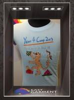 Tailor made Fashionable Logo Printingm Female Round Neck Short Sleeves Tee Shirt