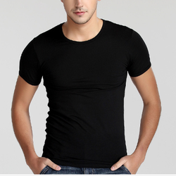 Cotton Spandex dry fit Soft feeling Men Training gym fitted t shirt