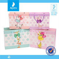 Cute custom cheap gift paper bag