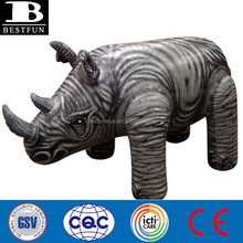 factory custom made giant inflatable rhino plastic animals toys jumbo stand up inflatables