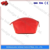 Professional Leather felt cosmetic bag fashion travel cosmetic bag