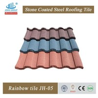 Colorful Stone Coated Steel Roofing Tiles