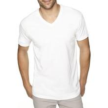 Wholesale high quality cotton plain white v-neck t shirts