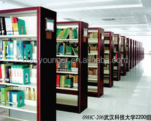 Nuovo design double face scaffale in metallo/libreria steel libreria