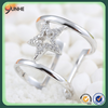 925 Sterling Silver Hollow Diamond Shaped Joint Ring for Ladies