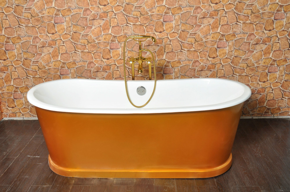 Hot cheap freestanding bathtub bathroom cast iron bath for Cheap free standing tubs