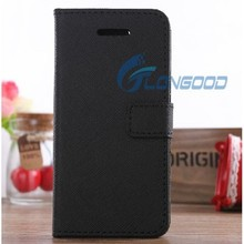 Universal Fancy Pure Color Flip Cell Phone Leather Case For IPhone 5C
