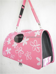 QQ factory wholesale cheap good quality cage pink pet dog carrier & small animal transport cage