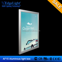 Wholesale rectangle Edgelight indoor advertising display AF15 aluminum frame 1227*889mm double side slim light box