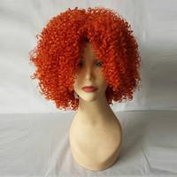 Medium Length Afro Curly Orange Hair Wig for Black Woman