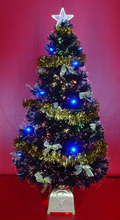 Black Fiber Optic Artificial Christmas Tree