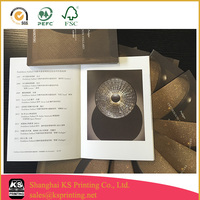 Chinese pattern brochure printing with debossing craft