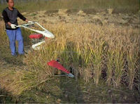 Modern agricultural machinery paddy reaper