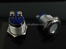 CQC 16mm approval colorful metal led phone call indicator light screwd push button switch