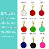 2015 Alloy Fashion Monogram Metal Enamel charm jewelry for Necklace or Bracelet Jewelry Wholesale