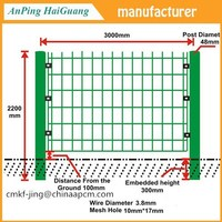 Green PVC Coated Welded wire mesh fence manufacturer for alibaba