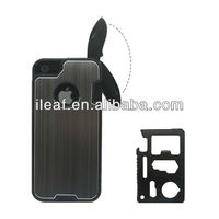 Hybrid hard case cover skin for iPhone 5/5S with Camping Multifunction Knife
