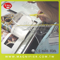 "Craft Mate Transparent Acrylic 4"" Lens Adjustable Hands-Free Magnifier"