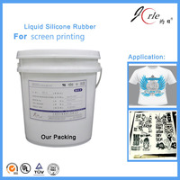 Shanghai Jorle screen printing liquid silicone rubber for textile products