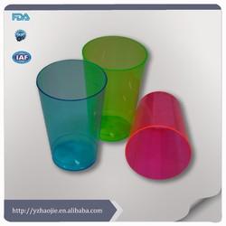 transparent colorful disposable plastic cup, OEM, factory price, disposable plastic drinking cup