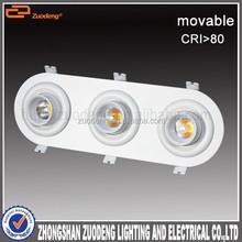 unique design 360 degree rotatable three head eye ball 21w led downlights