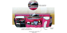 2015 new design polyester bedside storage caddy-Pink