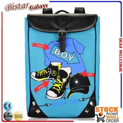 Fashion canvas school backpack for young girls and boys BBP503L