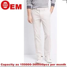 Más nuevos muchachos de la alta calidad fábrica de prendas de vestir de algodón para hombres pantalon