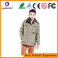 winder-proof outdoor man jacket, electric heating jacket, Rechargeable battery heated jacket