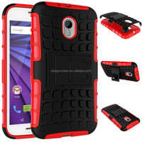combo shockproof case for Motorola G3 2015