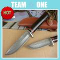 고정 블레이드 다마스커스 강철 칼 만들기