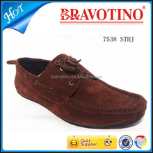 good price wholesale casual genuine leather suede Guangzhou mens shoes