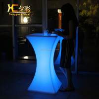 2015 factory price new design Lighted bar table led counter bar