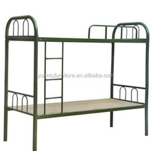 YM-03,Strong school dorm metal bunk bed / metal iron bed / two floor metal bed in white