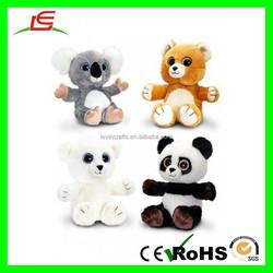 E344 Sparkle Eye Panda, Koala Bear Stuffed Animal Plush Toy Bear