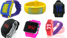 Wholesale slap/LED/USB custom kids silicone watch