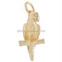 Hot 3 Dimensional Beauty And Intelligence Parrot Animal Charm For Bracelet