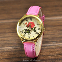 China wholesale latest relojes custom quartz watch new models roma numbers with gold dial