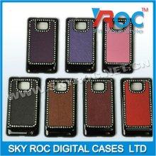 2013 rhinestone mobile phone hard cover for sam i9100