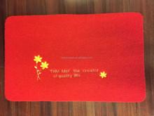 red rug, polyester mat, TPR backing mat