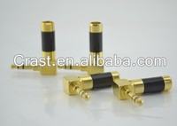 High quality Gold plated Right Angle 3.5mm Mini Jack Stereo Plug Connector L shape 90 degree connector