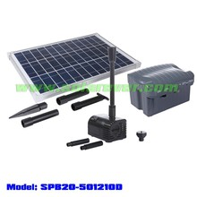 OEM/ODM feasible solar powered pump for water gardening (SPB20-501210D)