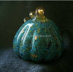 Moden Halloween gifted hand blown glass weightpaper craft wholesale artificial pumpkins